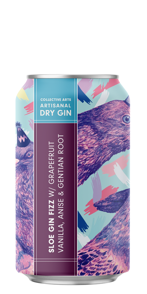 Sloe Gin Fizz beer can