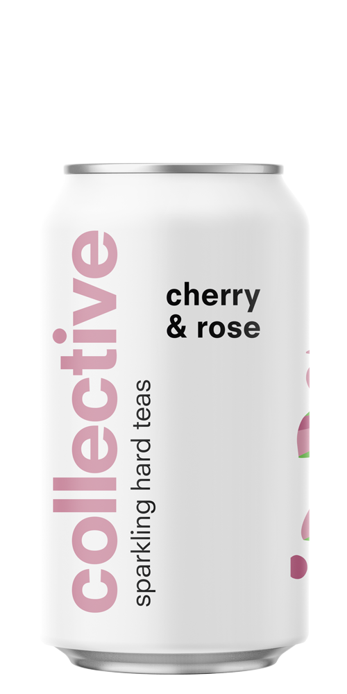 Cherry & Rose Sparkling Hard Tea beer can